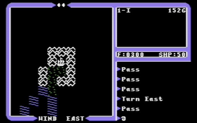 Ultima IV exiting dungeon after boarding frigate